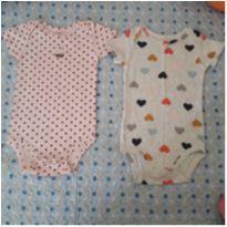Kit 2 bodies cupcake e corações Carter`s (18 meses) - 18 meses - Carter`s