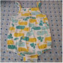 Macaquinho/Romper Baleias Carter`s (24 meses) - 2 anos - Carter`s