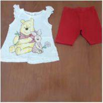 Conjunto Ursinho Pooh Disney (18 a 24 meses) - 18 a 24 meses - Fakini