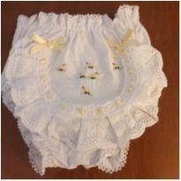 Tapa-fralda bordado pintinhos (12 a 18 meses) - 12 a 18 meses - Laço de menina