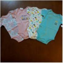 Kit 4 bodies menina Koala Baby (3-6 meses) - 3 a 6 meses - Koala Baby