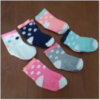 Kit 6 pares de meias Carter`s (2 anos) - 2 anos - Carter`s