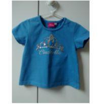 Blusa azul Cinderella paetê - 1 ano - Disney