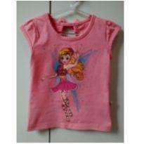 Blusa rosa fadinha - 1 ano - Rolú