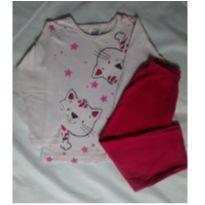Pijama manga longa gatinha - 2 anos - Duzizo