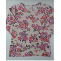 Blusa manga longa flores - 3 anos - Brandili