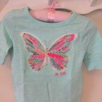 Camiseta OshKosh bordada Borboleta - 2 anos - OshKosh