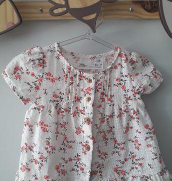 Bata florida - 3 a 6 meses - Zara Baby