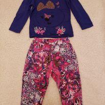 Conjunto Lilica Ripilica blusa e calça - GB (9 a 12 meses) - 9 a 12 meses - Lilica Ripilica