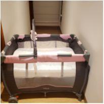 Berço Desmontável Cosco Toybar - Até 15kg - Rosa com colchão -  - Cosco