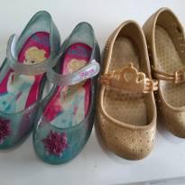 Frozen e Glitter com coroa Maravilhosas sapatilhas ! Plugt e Grendene Lote! - 23 - plugt e Grendene