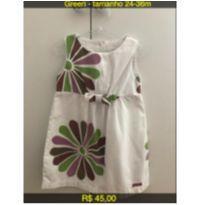 Vestido Floral - 24 a 36 meses - Green