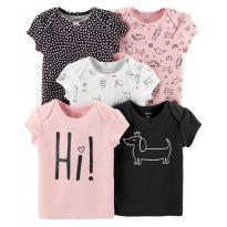 Pack Carters com 5 camisetas novas - 18 meses - Carter`s