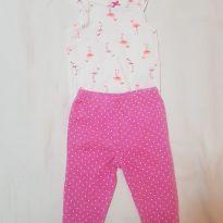 Conjunto Carter s menina 6 meses flamingo - 6 meses - Carter`s