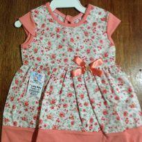 Vestido Florido Bebê RN 01 a 03 meses - 0 a 3 meses - Leticia baby