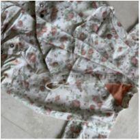 Kimono fubá flowers - 6 a 9 meses - Não informada