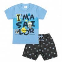 Conjunto Bebê I`m A Sailor Azul - Tam 3 - 3 anos - Outros