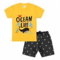 Conjunto Bebê Ocean Life Amarelo - Tam 2 - 2 anos - Outro