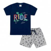 Conjunto Bebê Ride Marinho - Tam 2 - 2 anos - Outro