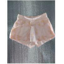 Short Saia Flores Brandili - 3 a 6 meses - Brandili