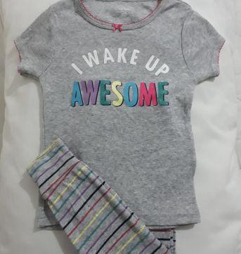 Pijama com Listra - 2 anos - Carters - Sem etiqueta