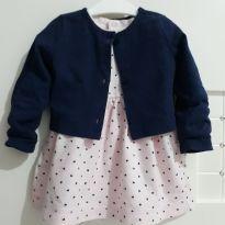 Vestido Poa de corações - 18 meses - Carters - Sem etiqueta