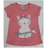 Camiseta Gatinha Unicórnio 3 - 3 anos - Poim