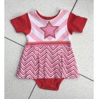 Vestido Body Super Estrela - 6 a 9 meses - Ovo