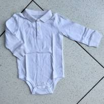 Body polo branco - 9 meses - Koala Baby