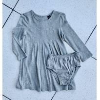 Vestido cinza brilhos - 2 anos - Baby Gap