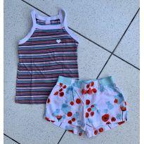 Kit blusa e short Alphabeto - 3 anos - Alphabeto
