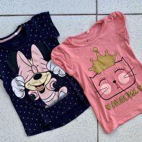 Kit blusas Minnie e Gatinha - 4 anos - Disney e Girls