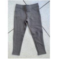 Calça skinny tipo legging cinza - 5 anos - Young dimension