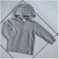 Casaco capuz cinza - 12 a 18 meses - H&M