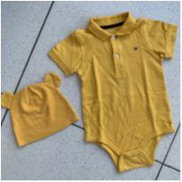 Body Polo Amarelo - 18 meses - Tommy Hilfiger