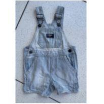 Jardineira jeans listrada - 1 ano - OshKosh