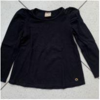 Blusa preta básica - 4 anos - Milon
