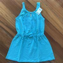 Vestido azul com etiqueta - 5 anos - OshKosh