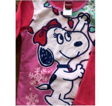 Pijama de fleece novinho - 8 anos - Peanuts - USA