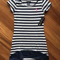 Vestido Listrado da U.S.Polo - 7 anos - Marca não registrada