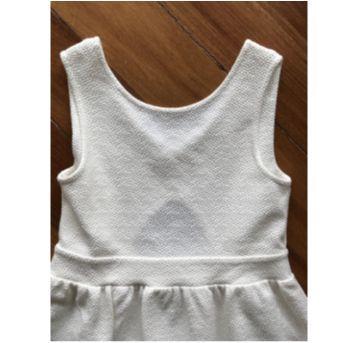 Vestido off white  da Zara - 7 anos - Zara