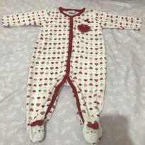 Macacão coraçãozinhos - 3 a 6 meses - Tilly Baby