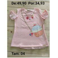 Blusinha de cupcake - 4 anos - Le Petit Kukiê