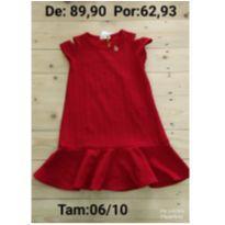 Vestido vermelho - 8 anos - Le Petit Kukiê