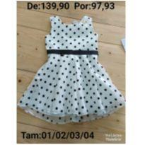 Vestido de Bolinhas - 4 anos - Le Petit Kukiê