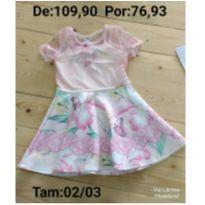 Vestido com borboletas - 24 a 36 meses - Le Petit Kukiê