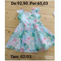Vestido com flores - 2 anos - Le Petit Kukiê