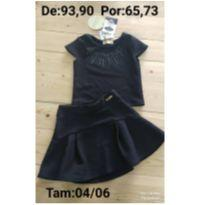 Conjunto blusa boxy+saia - 4 anos - Le Petit Kukiê