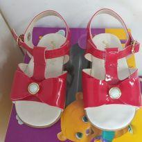 Sandália feminina vermelha - 19 - Pimpolho