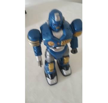 Boneco Robô - 23 Cm - Power Mach Z - Azul - Dtc - Sem faixa etaria - Não informada